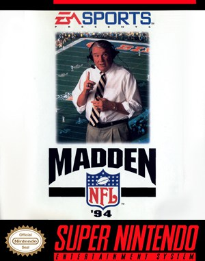 Madden NFL '94 SNES front cover