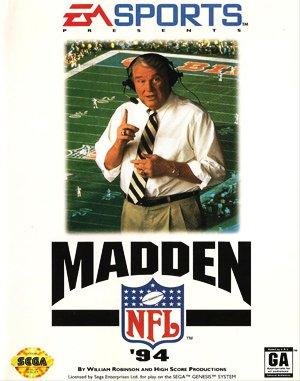 Madden NFL '94 Sega Genesis front cover
