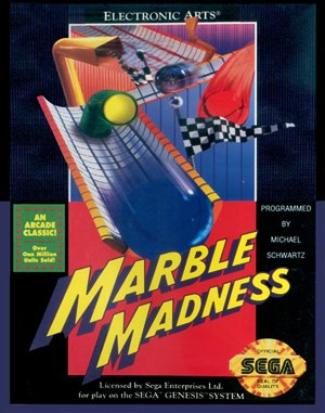 Marble Madness DOS front cover
