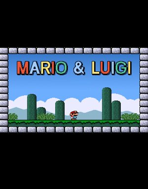 Mario & Luigi DOS front cover