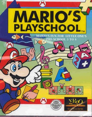 Mario's Early Years: Preschool Fun DOS front cover