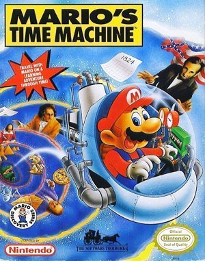 Mario's Time Machine DOS front cover