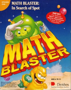 Math Blaster Plus! DOS front cover