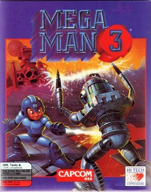 Mega Man 3 – The Robots are Revolting DOS front cover