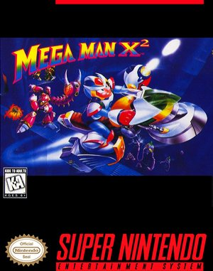 Mega Man X2 SNES front cover