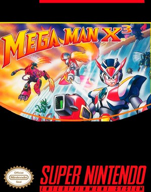 Mega Man X3 SNES front cover