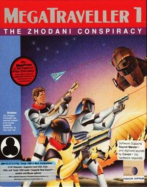 MegaTraveller 1: The Zhodani Conspiracy DOS front cover