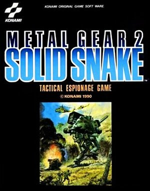 Metal Gear 2: Solid Snake DOS front cover