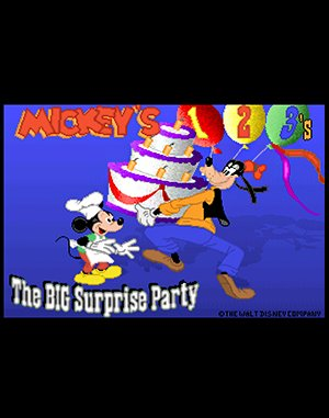 Mickey's 123's The Big Surprise Party DOS front cover