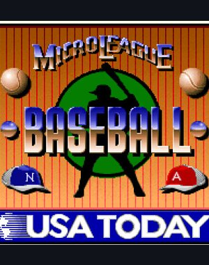 MicroLeague Baseball IV DOS front cover