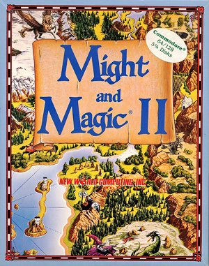 Might and Magic II: Gates to Another World DOS front cover