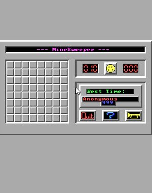 MineSweeper DOS front cover