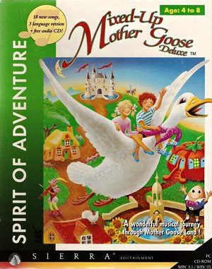 Mixed-Up Mother Goose Deluxe DOS front cover