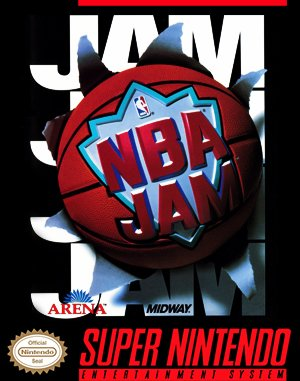 NBA Jam SNES front cover
