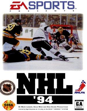 NHL '94 Sega Genesis front cover
