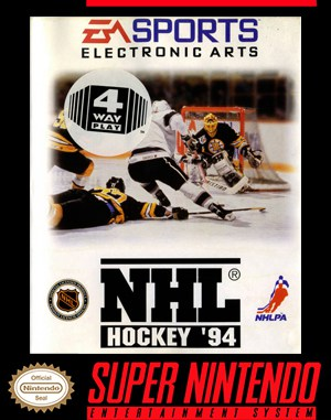 NHL '94 SNES front cover