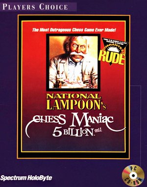 National Lampoons Chess Maniac 5 Billion and 1 DOS front cover