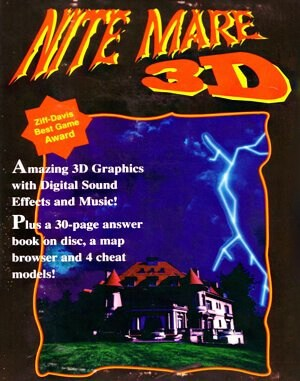 Nitemare 3D DOS front cover