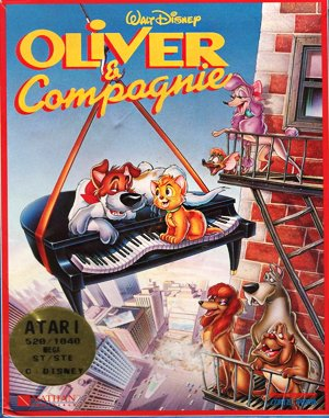 Oliver & Company DOS front cover