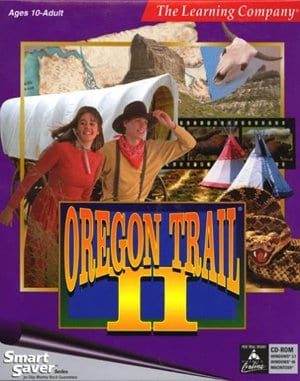 Oregon Trail II DOS front cover