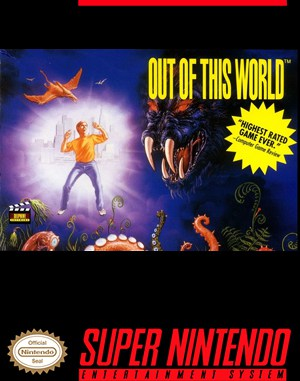 Out of This World SNES front cover