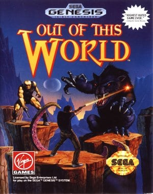 Out of This World Sega Genesis front cover