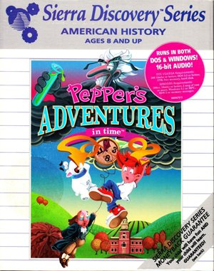 Pepper's Adventures in Time DOS front cover