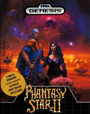 Phantasy Star II Sega Genesis front cover