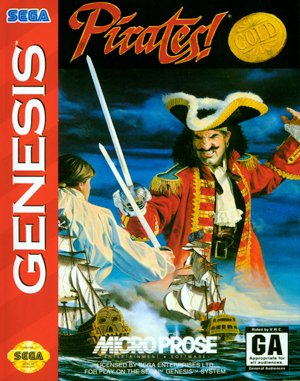 Pirates! Gold Sega Genesis front cover