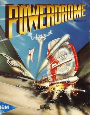 Powerdrome DOS front cover