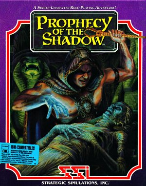 Prophecy of the Shadow DOS front cover