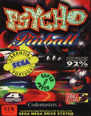Psycho Pinball DOS front cover