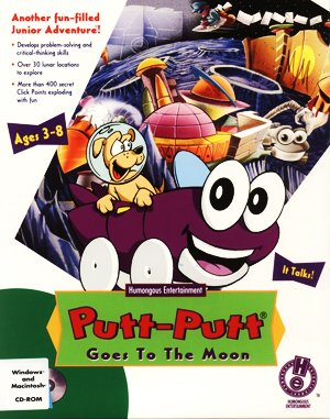 Putt-Putt Goes to the Moon DOS front cover