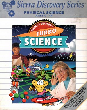 Quarky & Quaysoo's Turbo Science DOS front cover