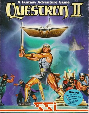 Questron II DOS front cover