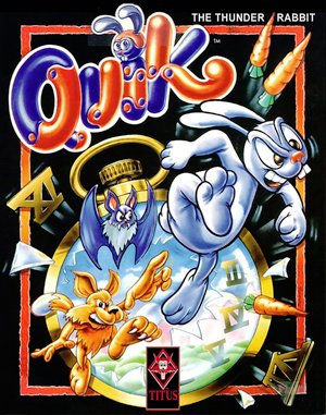 Quik the Thunder Rabbit DOS front cover