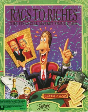 Rags to Riches: The Financial Market Simulation DOS front cover