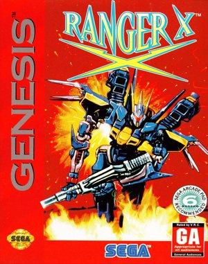 Ranger X Sega Genesis front cover
