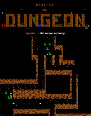 Reaping the Dungeon DOS front cover