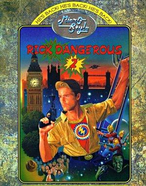 Rick Dangerous 2 DOS front cover