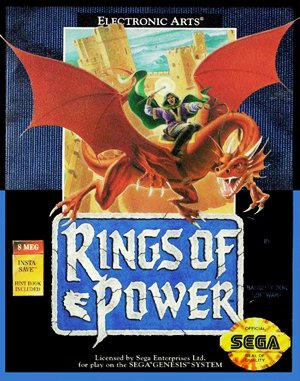 Rings Of Power Sega Genesis front cover
