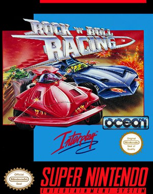 Rock n' Roll Racing SNES front cover