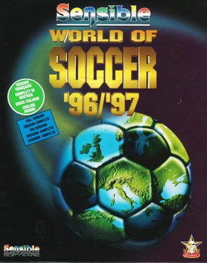 Sensible World of Soccer '96/'97 DOS front cover