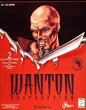 Shadow Warrior: Wanton Destruction DOS front cover