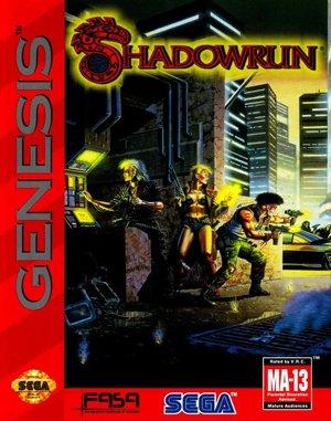 Shadowrun Sega Genesis front cover