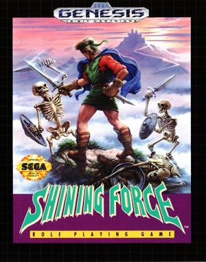 Shining Force Sega Genesis front cover