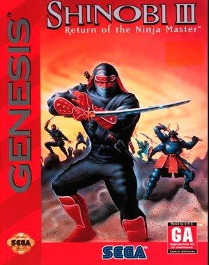 Shinobi III: Return of the Ninja Master Sega Genesis front cover