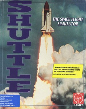Shuttle: The Space Flight Simulator DOS front cover