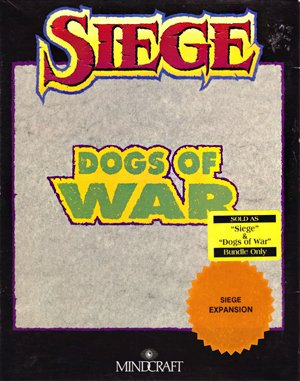 Siege: Dogs of war DOS front cover
