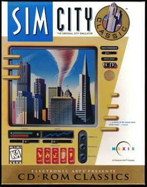 SimCity Classic DOS front cover